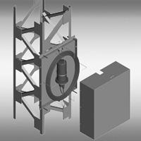 Шкаф ШРМ для внутреннего размещения муфты и технологического запаса ОК